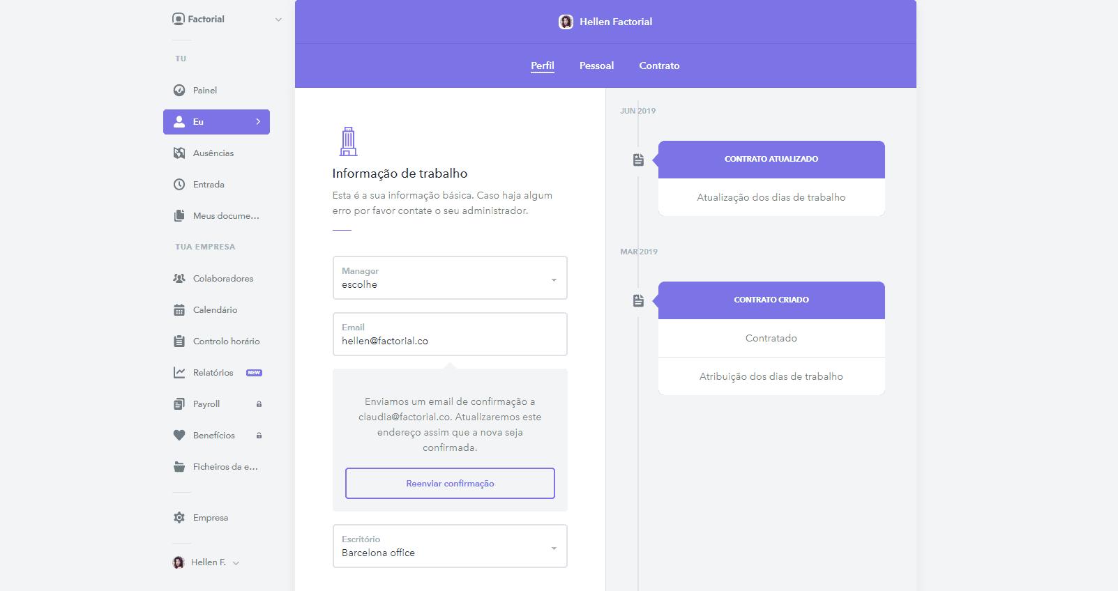 portal colaborador do software de RH
