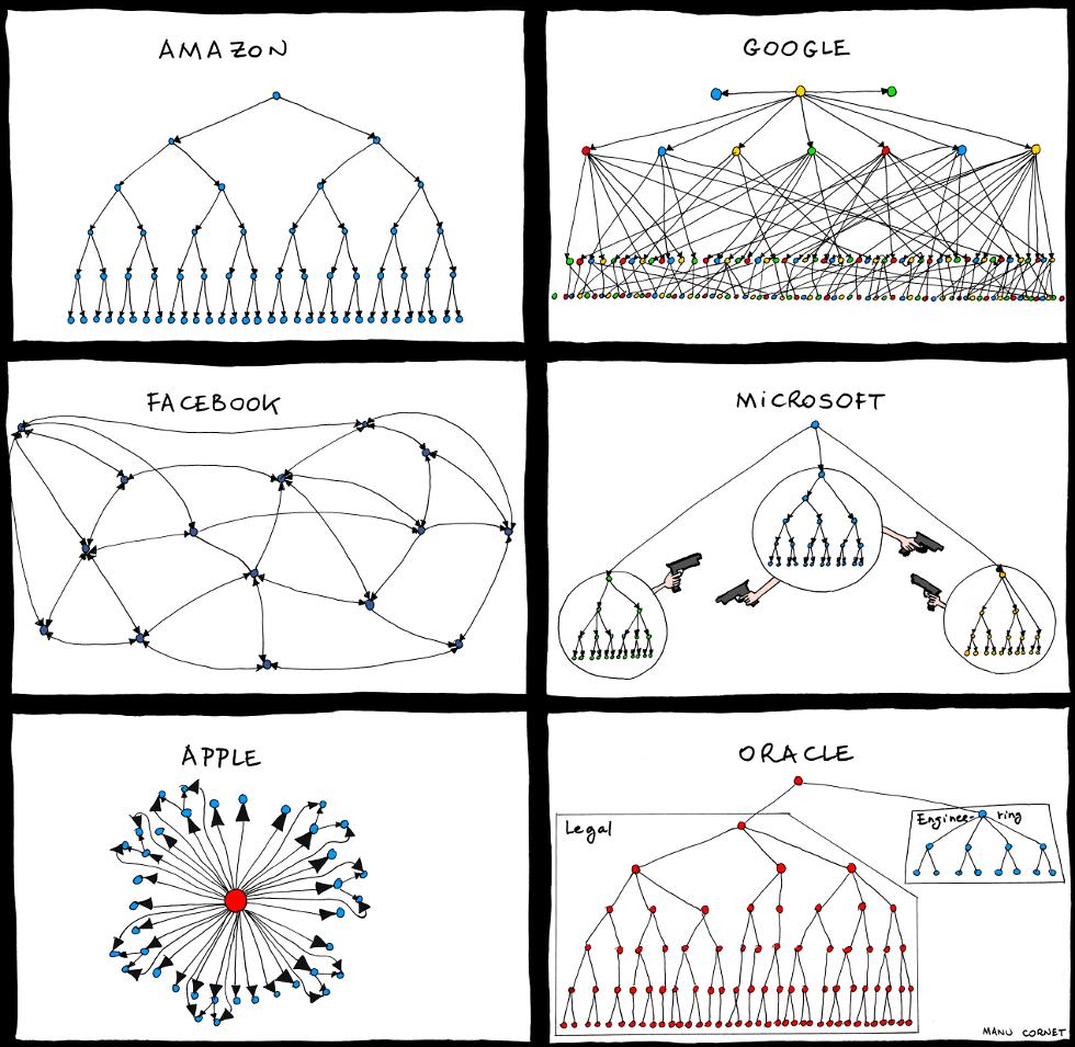 exemplo organograma multinacionais